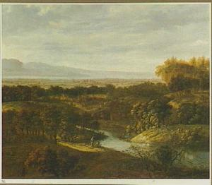 Weids landschap met rivier