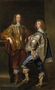 Dubbelportret van Lord John Stewart (1621-1644) en Lord Bernard Stewart, later Earl of Lichfield (1623-1645)