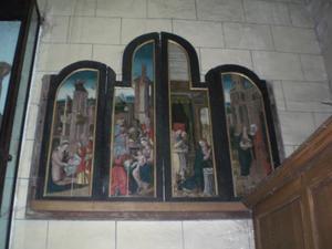 De geboorte van Christus, de aanbidding der wijzen (linkerluik); De annunciatie, de visitatie (rechterluik)