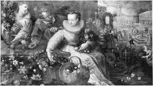 Allegorie van de lente: bloemenmarkt