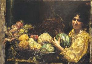 De vruchtenverkoopster