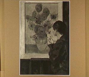 'Hommage aan Van Gogh' (blauwe blouse)