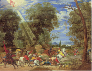 De bekering van Paulus op de weg naar Damascus