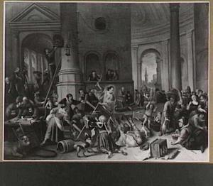 De verdrijving van de wisselaars uit de tempel (Joh. 2: 13-16)