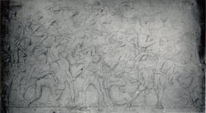 Schets naar het Ruitergevecht van Bertoldo di Giovanni (1435-1491)