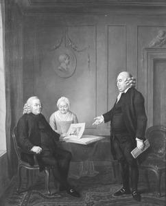 Groepsportret met Harmanus Stoopendaal (1715-1795), Maria Stulen (1716-1790) en Willem Hendrik Stoopendaal (1745-1802)