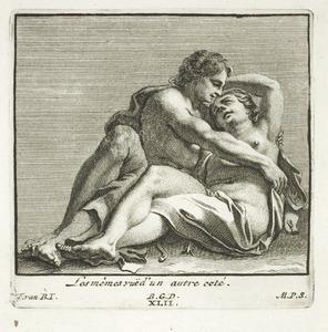Venus en Adonis, in verkort perspectief (pl. XLII)