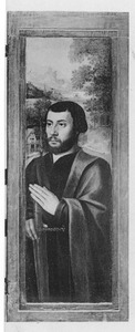 Portret van een stichter (mogelijk Geronimo Diodati) als de H. Paulus