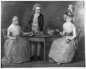 Familieportret van Elisabeth van Son (1738-1799), Catharina Anna Malecotius (1773-1796) en Hendrik Malecotius (1777-1851)