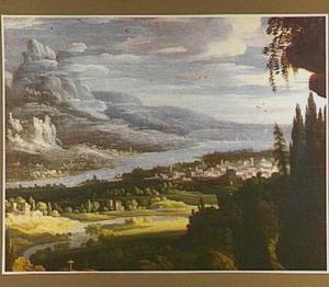 Berglandschap met rivier