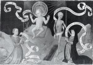 Allegorie van Christus als kind met stigmata en de dood