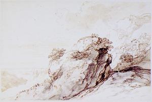 Berglandschap met rotsformatie