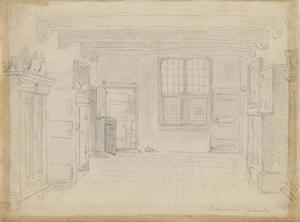Interieur van het oudemannenhuis in Zandvoort