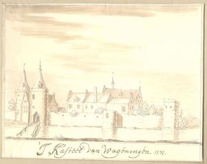 Wageningen, gezicht op het kasteel anno 1574
