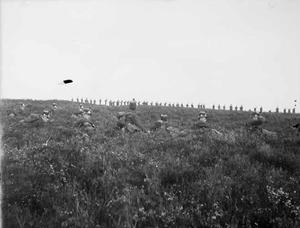 twee groepen militairen tijdens een militaire manoeuvre
