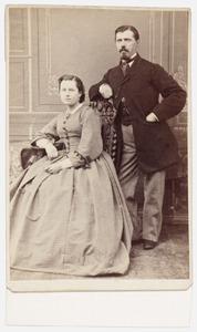 Portret van Elizabeth Pool (1836-1916) en Cornelis Peter Lenshoek (1831-1901)