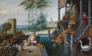 Koning David bespiedt Batseba tijdens haar toilet (2 Samuel 11-12)