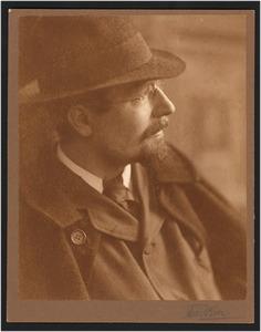 Portret van de schilder Ferdinand Oldewelt (1857-1935)