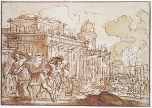 Het paleis van koning Demetrius Nikanor in Antiochië aangevallen door het volk