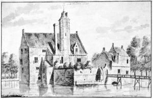 Rechter- en voorzijde van de ridderhofstad Wulven