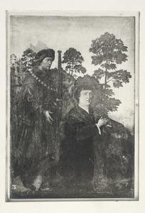 Portret van een donor met patroonheilige (H. Jacobus?)