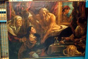 Jacob ontsteelt Esau met list en bedrog Isaaks vaderlijke zegen (Genesis 27:27-29)