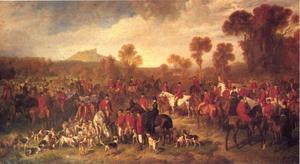 Vossenjachtpartij bij de Kunetice Heuvel (Bohemen)