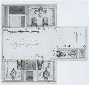 Plattegrond voor een interieur voor Gerrit ten Hoopen