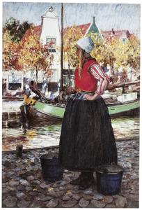Vrouw bij de vaart