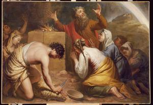 Noachs dankoffer na de zondvloed (Genesis 8:20-21)