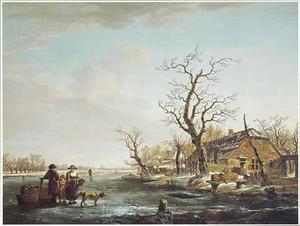 Wintergezicht aan de Devel