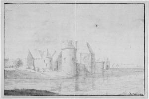 Linker- en voorzijde van het kasteel van Medemblik (ook wel Radboud)