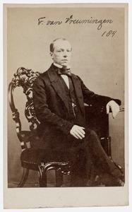 Portret van Teunis van Vreumingen (1816-1875)