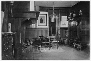 Interieur van het boot-atelier van W.O.J. Nieuwenkamp
