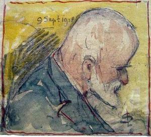 Zelfportret van Leon Senf (1860-1940)