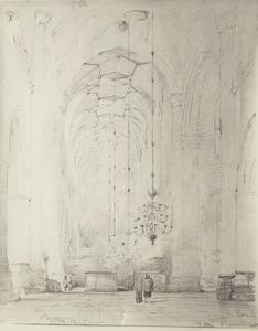 Gezicht in de Grote Kerk te Haarlem