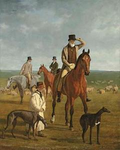 Lord Rivers rijdend te paard door de Newmarket heide