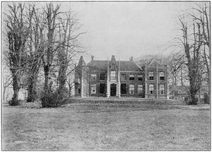 De achterzijde van het huis Treslong bij Hillegom