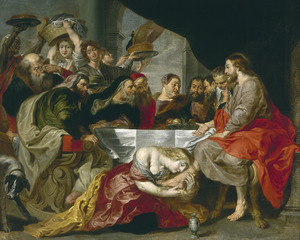 Christus in het huis van Simon