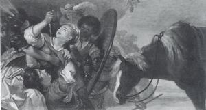 Thyamis neemt Chariklea en Theagenes gevangen (Heliodorus: Aethiopica)