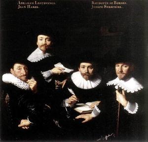 Regenten van het Walenweeshuis te Amsterdam, 1637