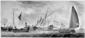 Scheepvaart op de rede van Zierikzee