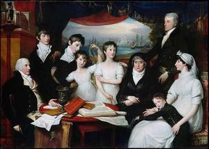 Portret van Henry Hope (1735-1811) met het gezin van John Williams Hope (1757-1813)