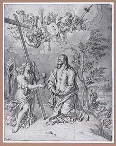 De engel troost Christus op de Olijfberg