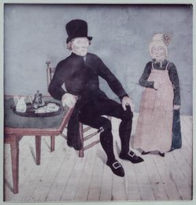 Portret van Willem van de Pol (1749-1819) en Hendrina van de Pol (1811-....)