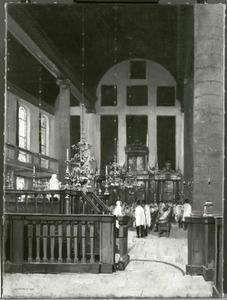 Interieur van een synagoge