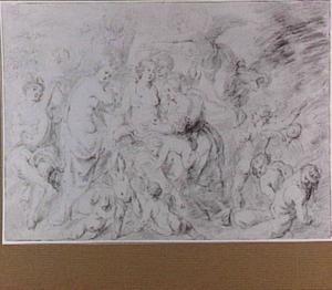 Venus omringd door goden en putti
