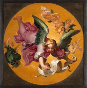 De engel van de verkondiging van Christus' geboorte aan de herders