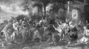 Intocht van Christus in Jerusalem (Matteüs 21:1-11, 21:14-16; Marcus 11:1-11; Lucas 19:28-40; Johannes 12:12-19)