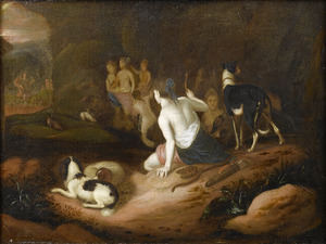 Diana verandert Actaeon in een hert
